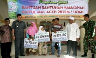 4000 orang mustahik terima santunan ramadhan dari Pemerintah Aceh