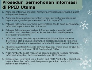 prosedure permohonan informasi