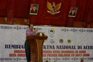 Sekretaris Daerah Aceh, Drs. Dermawan.MM, membuka Rembug Utama KTNA Nasional di anjong monmata, Banda Aceh, 6/10. Dalam persiapan rangka pelaksanaan Penas Kontak Tani Nelayan XV tahun 2017 di Aceh