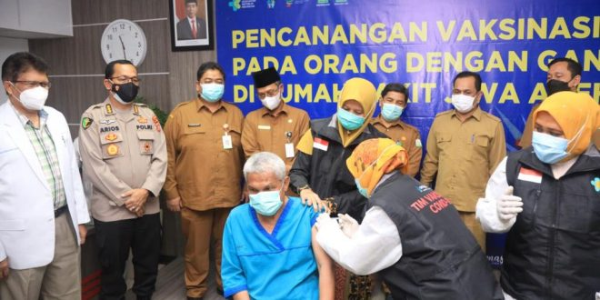 Pemerintah Vaksinasi Covid-19 di RSJ Aceh thumbnail